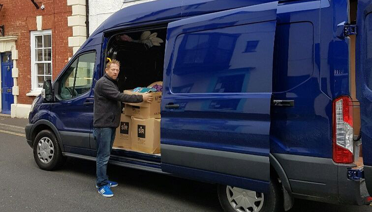 Owner Simon Next To His Van