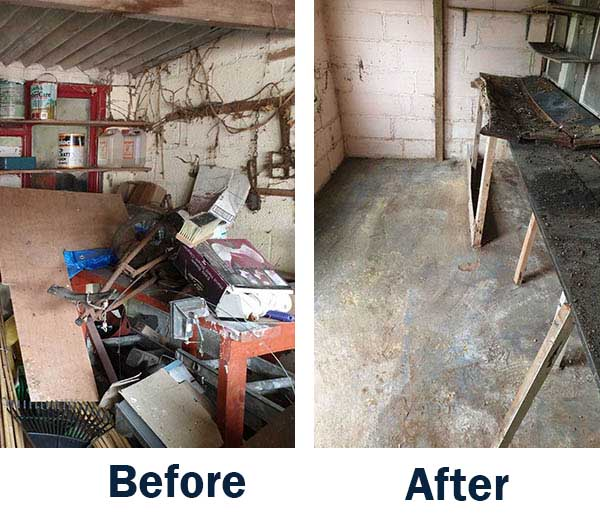 before and after garage clearance