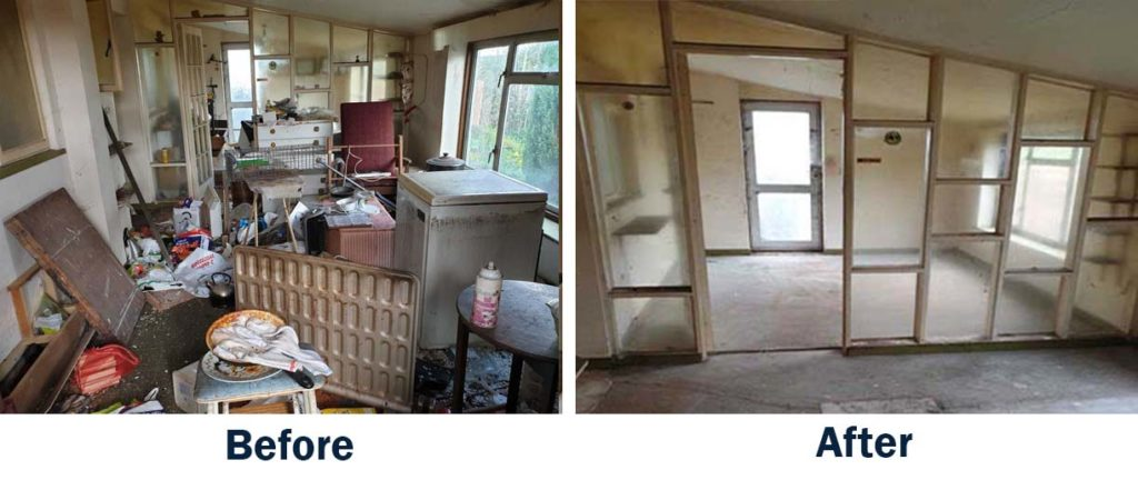 before and after images of house clearance service